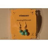 Türkenit két golyós fülbevaló