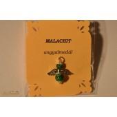 Malachit angyalmedál