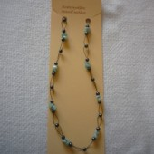 Hematit - Aventurin fűzött nyaklánc