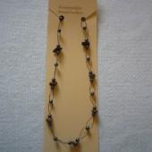 Hematit - Tigrisszem fűzött nyaklánc