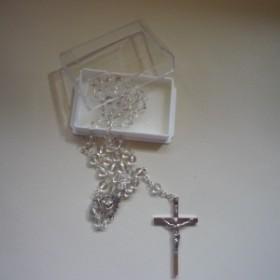 Hegyikristály rózsafüzér (fém feszülettel)